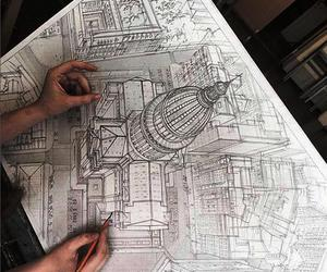 art, drawing, and architecture image
