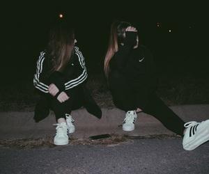 adidas, dark, and nike image