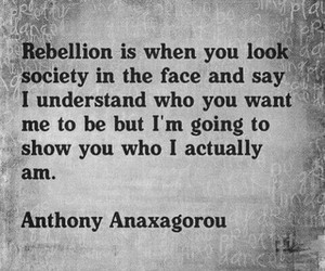 rebellion, quotes, and society image