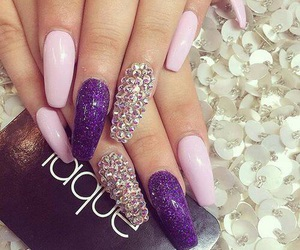 beautiful, nails, and sparkle image