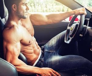 car, drive, and man image