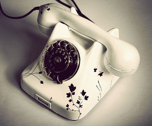 black and white, telephone, and vintage image
