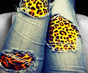 jeans and leopard image