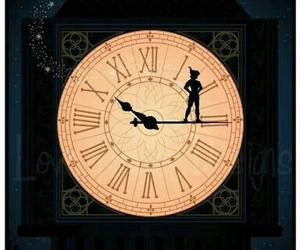 peter pan, disney, and clock image