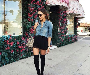 classy, overknee boots, and street style image