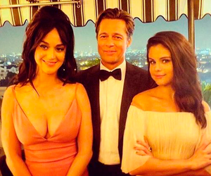selena gomez, katy perry, and brad pitt image