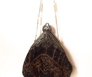 black purse, etsy, and vintage handbag image