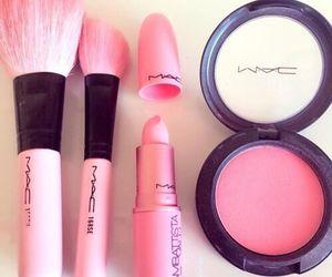 mac, pink, and lipstick image