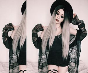 aesthetic, dyed hair, and soft grunge image
