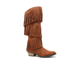boots, fringe, and Cognac image