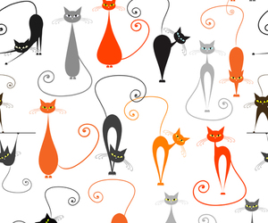 cartoon, cat, and silhouette image