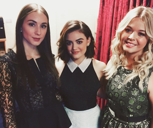 lucy hale, troian bellisario, and sasha pieterse image