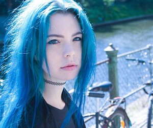 blue hair, girl, and aesthetic image