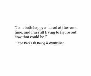 happy, perks of being a wallflower, and sad image