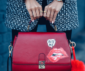 fashion, red, and bite me image