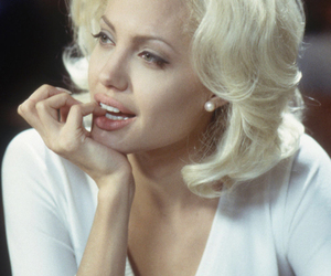 Angelina Jolie and blonde image