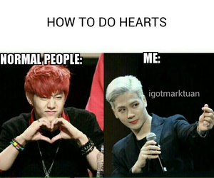funny, hearts, and kpop image