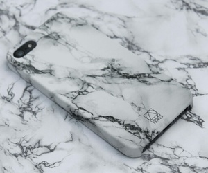 black and white, marble, and phonecase image