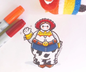 disney, baymax, and toy story image