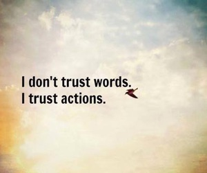 i don't trust words. image