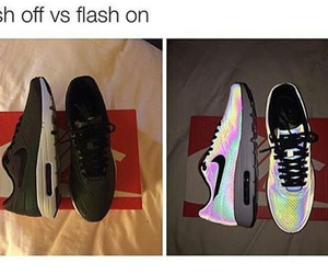 nike, flash, and shoes image