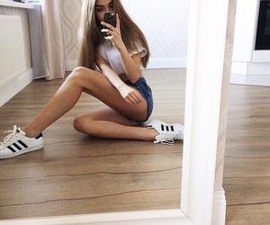 adidas, casual, and girl image