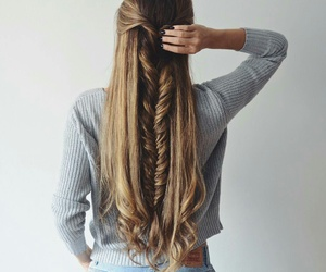 hair, hairstyle, and longhair image