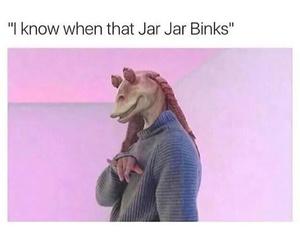star wars, jar jar binks, and Drake image