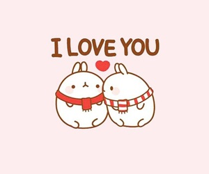 cute, love, and molang image