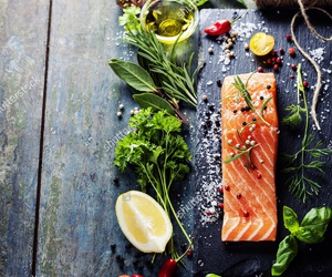 basil, coriander, and fish image