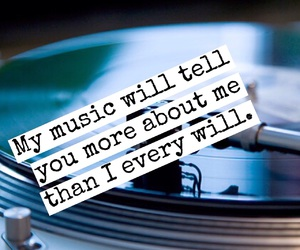 music, quotes, and vinyl record image