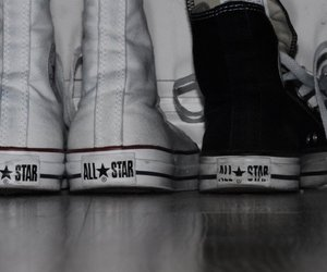 all star, converse, and light image