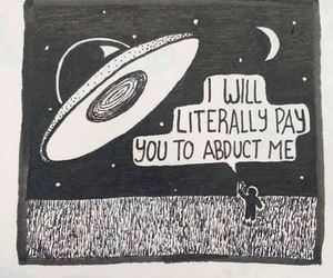 alien, funny, and space image