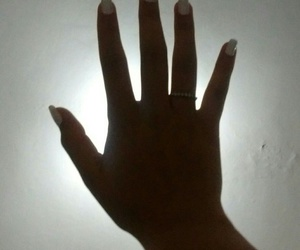 hand, wall, and white image