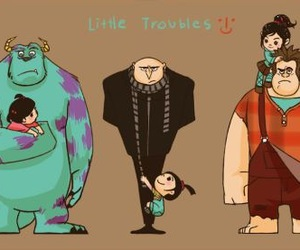 disney, despicable me, and boo image