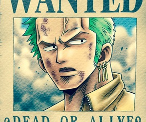 one piece, wanted, and zoro image