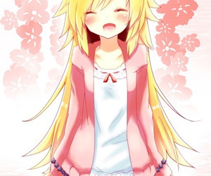 anime, flowers, and grin image