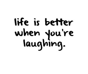 life, quote, and laugh image