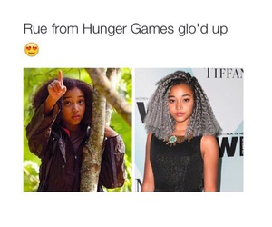 character, the hunger games, and rue image