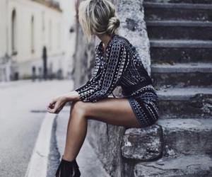 blonde, clothes, and dress image