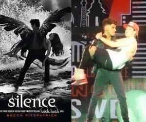 silence, one direction, and hush hush image