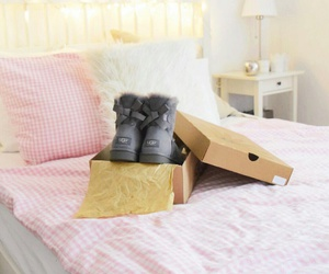bedroom, gift, and shoes image