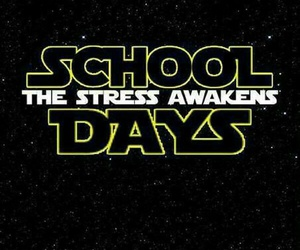 school, star wars, and stars image