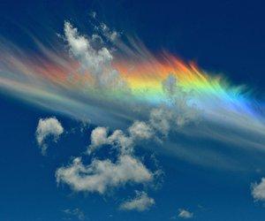 rainbow, sky, and cloud image
