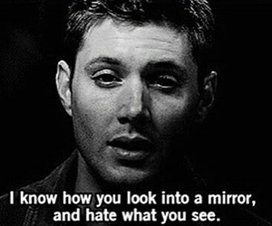 supernatural, mirror, and hate image