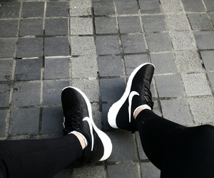 black&white, nike, and shoes image