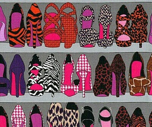 pattern, shoes, and fashion image