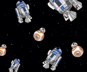 galaxy, star wars, and r2d2 image