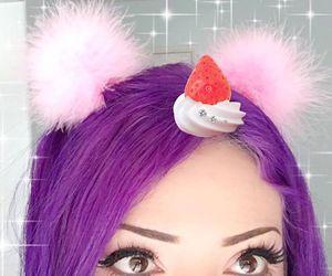 aesthetic, kawaii, and dyed hair image