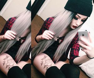 aesthetic, dyed hair, and long hair image